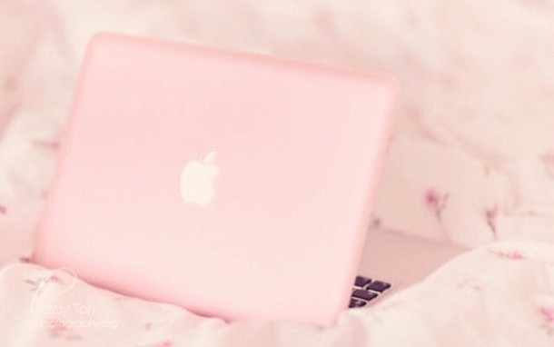 A pastel pink computer. Also cute!